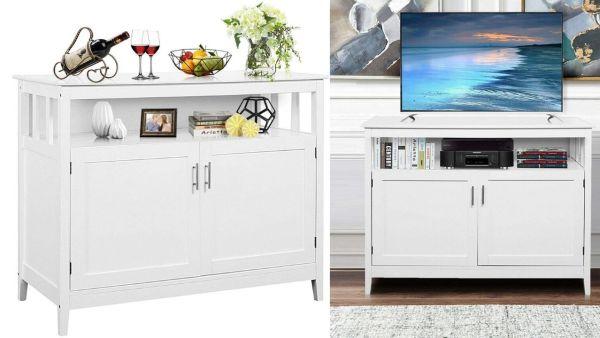 Costzon Kitchen Storage Sideboard Cabinet Cupboard.
