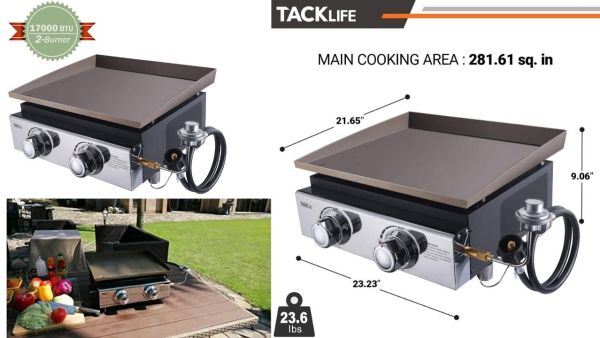 TACKLIFE 18 Inch Tabletop Grill