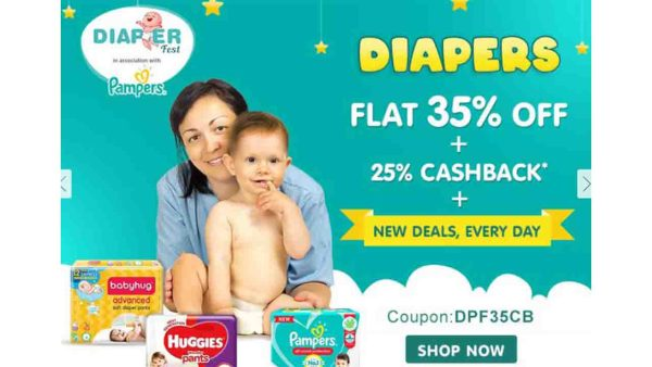 Firstcry Diapers Offers - 25% Cashback & 35% OFF 1