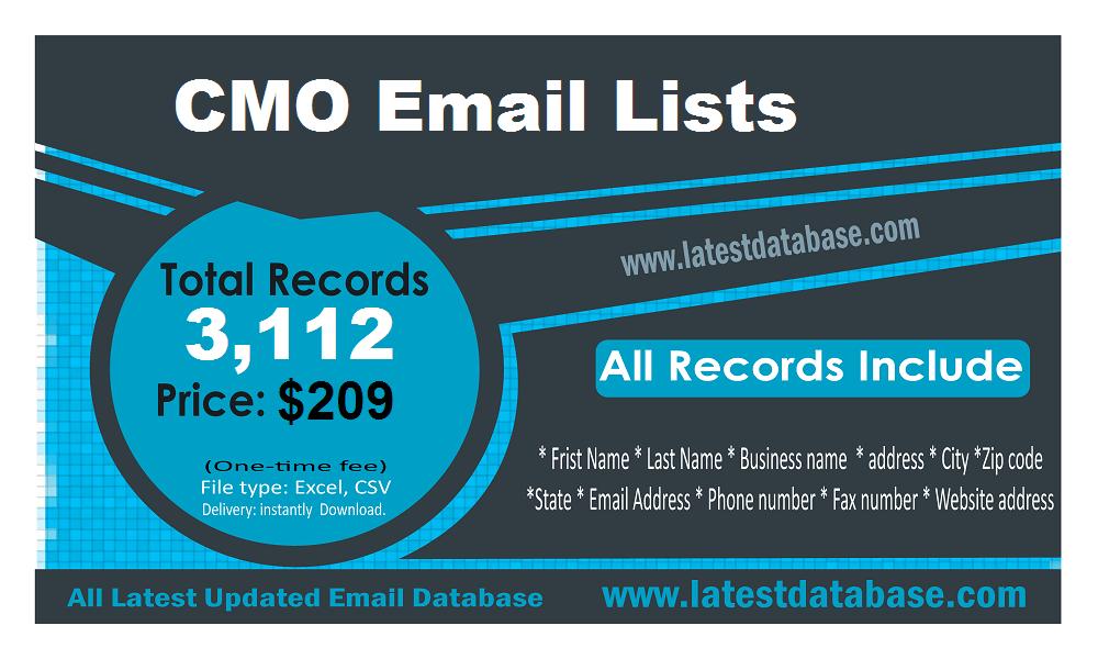 Listi di Email CMO