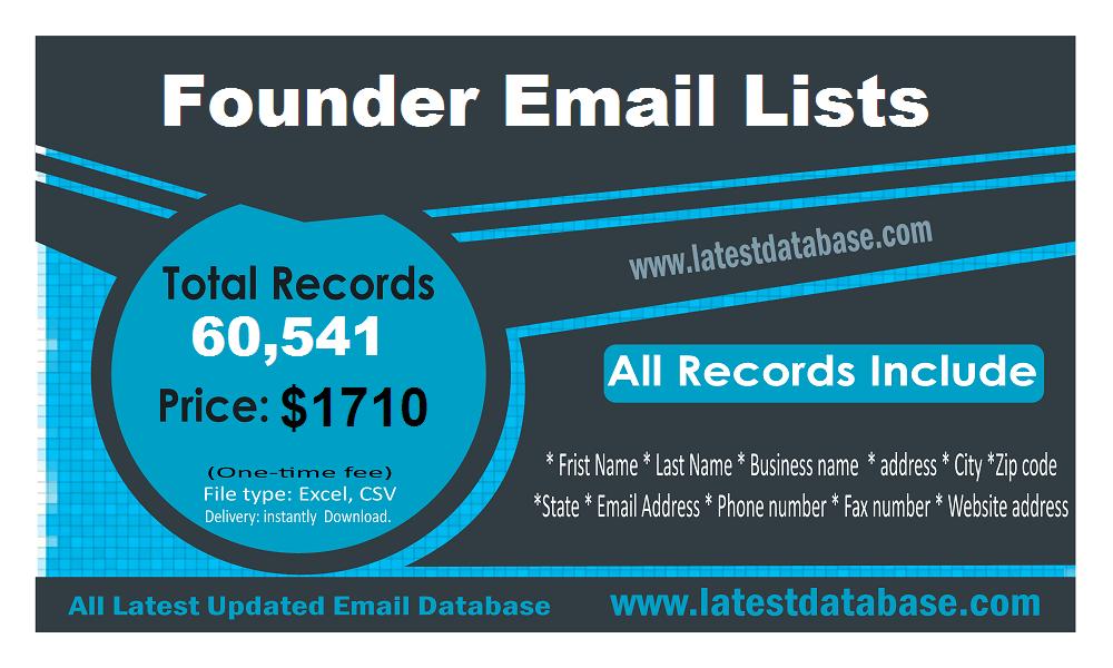 Списки электронной почты основателя