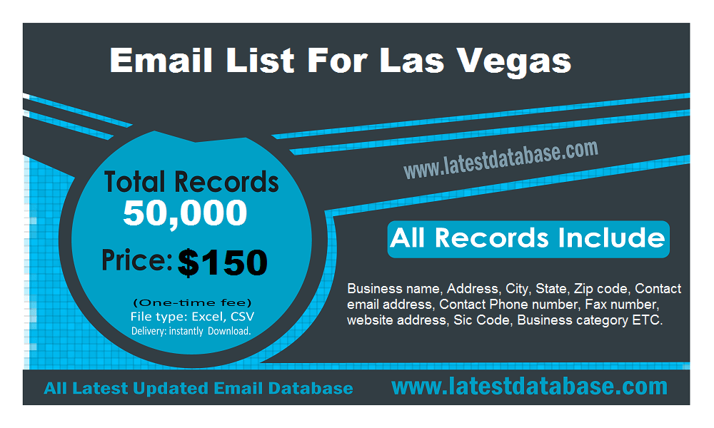 Lista e postës elektronike për Las Vegas