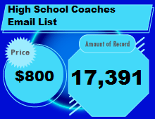 High School Coaches Email List