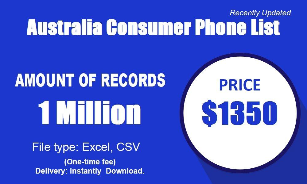 Australia Consumer Phone List