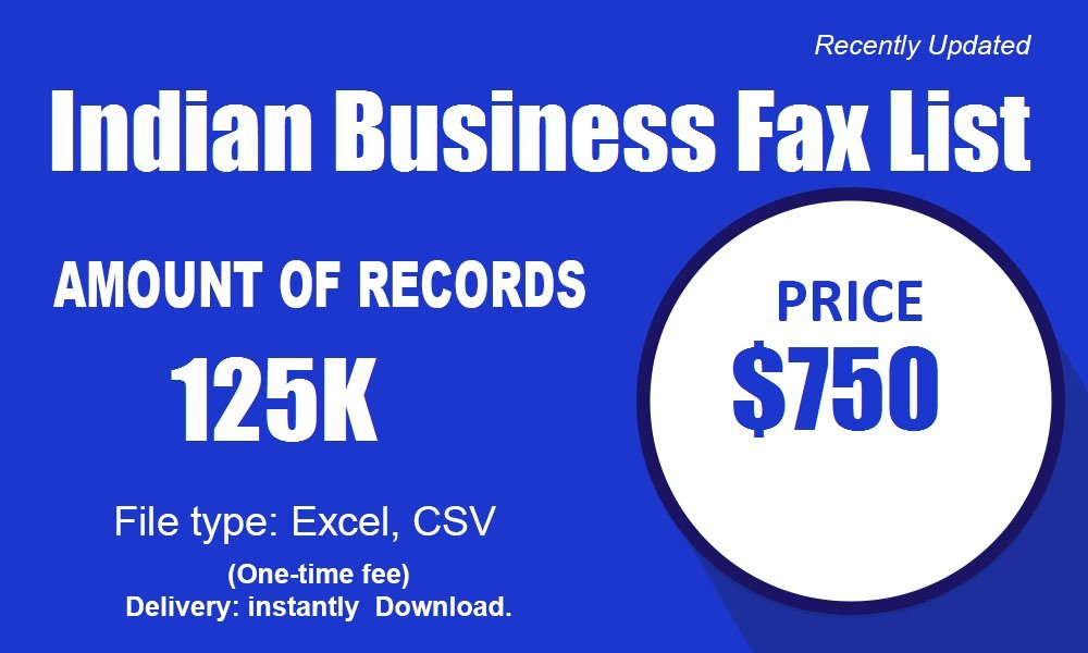 Indian Business Fax List