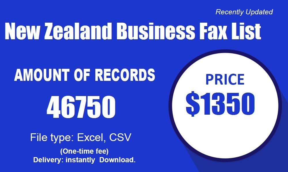 New Zealand Business Fax List