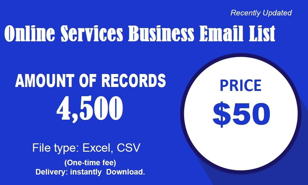 Liste de courrier électronique des services en ligne