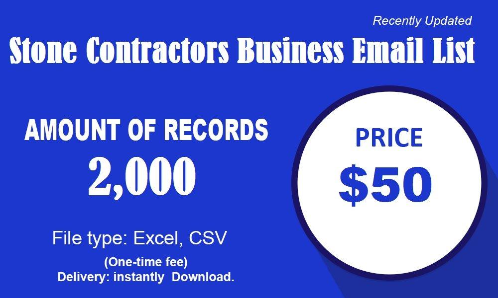 Stone Contractors Poslovni seznam e-pošte