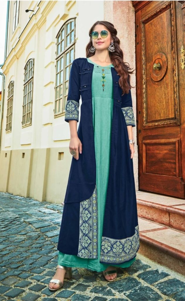 long-kurti-geern-shrug-blue-2