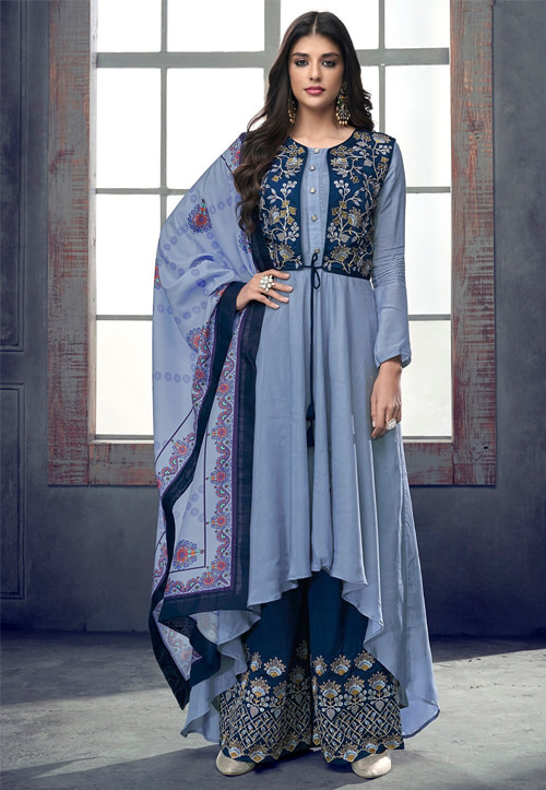 Asymmetrically Palazzo Suits