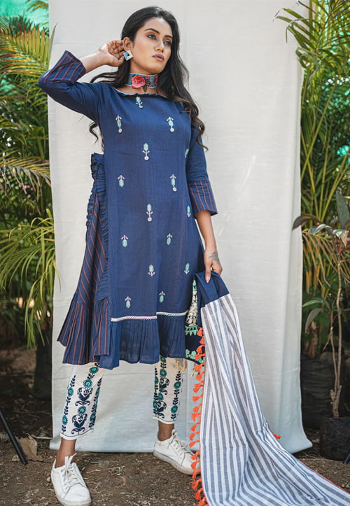 Khadi-Knee-Length-Kurtis