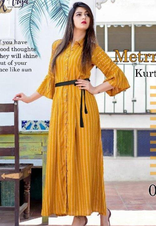 classy-yellow-kurti