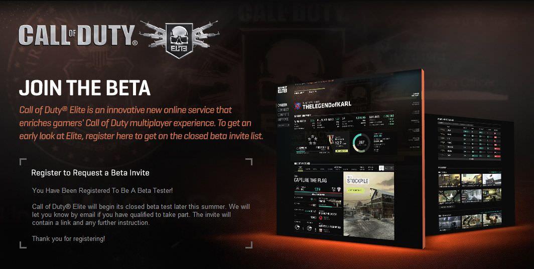 Call of Duty: Elite Beta