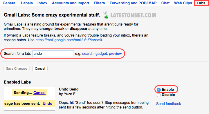 enable-undo-sent-mail-gmail