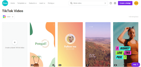Canva Pro Create Design