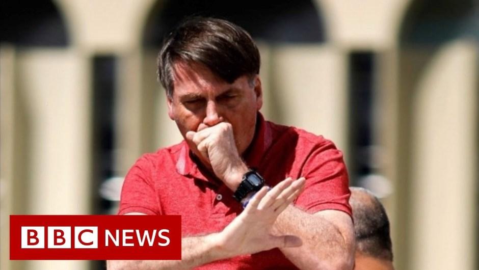 Coronavirus advice ignored by Brazil's President Jair Bolsonaro – BBC News