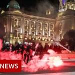 Coronavirus: Belgrade protesters storm Serb parliament over curfew – BBC Information