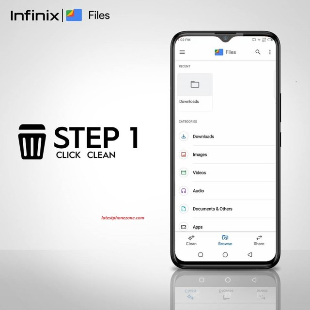 Google File Go Junk Cleaner helps to free up space, boost performance on the latest Infinix Hot 8 in just 4 easy steps.