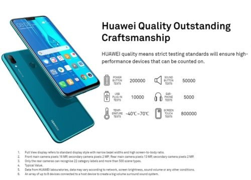 Huawei Y9 (2019) budget android smartphone price in Nigeria