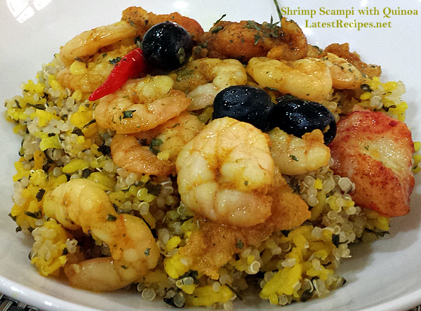 Shrimp Scampi with Quinoa