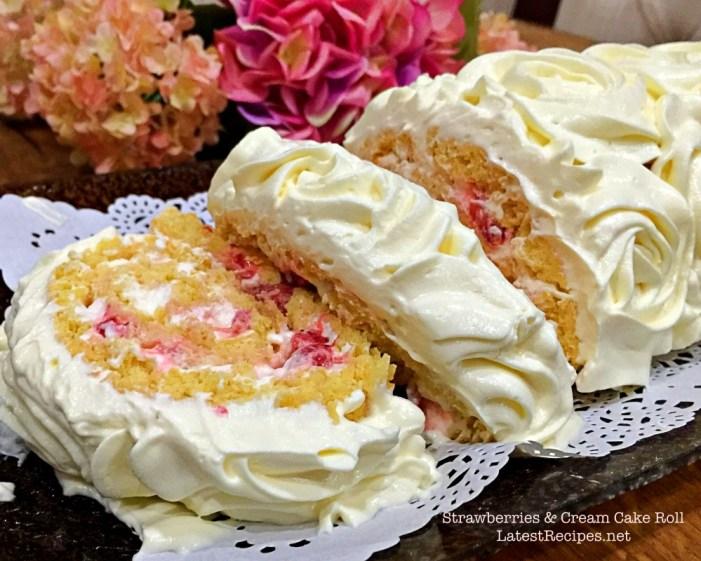 Strawberries & Cream Cake Roll