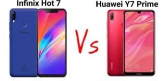 Infinix Hot 6 VS Huawei Y7 Prime