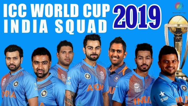 2019 world cup indian team player list