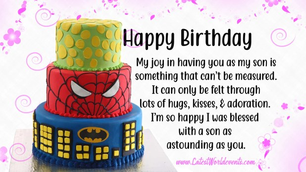 Magnificent Birthday Wishes For Son Birthday Quotes For Son Latest World Events Personalised Birthday Cards Veneteletsinfo