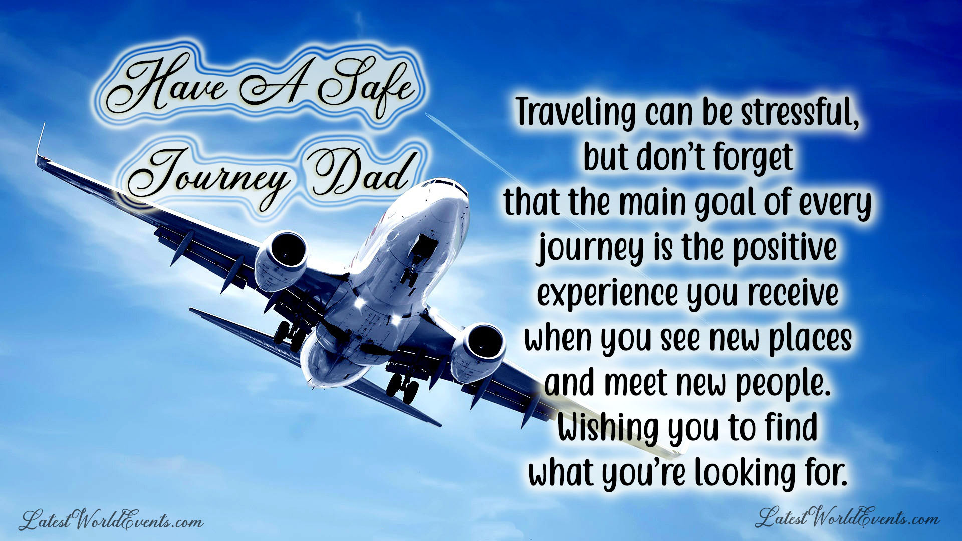 Wish you a safe flight