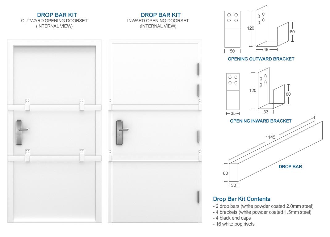 Glazed Steel Door Security