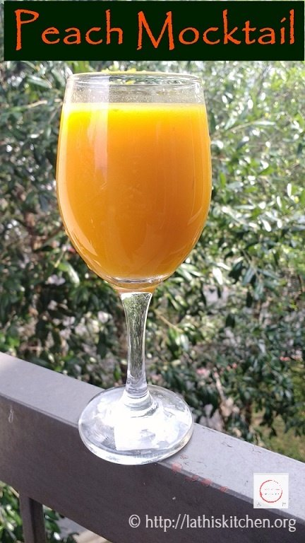 Peach Mocktail,Mocktail,Drink,Non Alcoholic drink