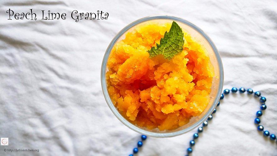 Easy Refreshing Peach Lime Granita