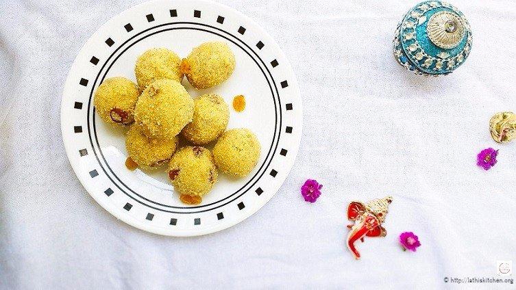Rava Ladoo,dessert,Indian,Festive,Easy
