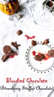 Strawberry filled Chocolate,Halloween treat,Kids,Chocolate,Strawberry,Easy,Vegan,Vegetarian