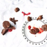 Bloodied Chocolate - Strawberry Jam Stuffed Chocolate