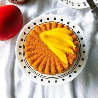 Whole Wheat Mango Cake - Egg less, Butter less