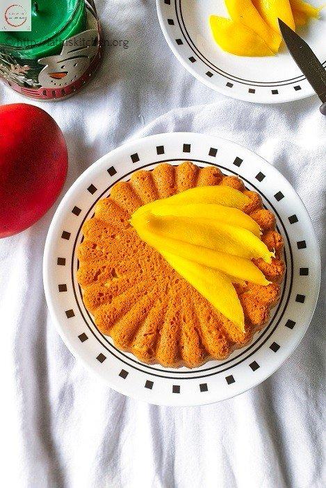 Whole Wheat Mango Cake,Cake,Baking,Fruit,Kids,