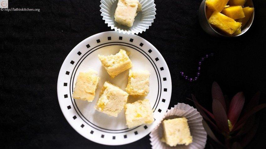 Pineapple Burfi,Baked,Easy,Dessert,Kids,Sweets,fruit