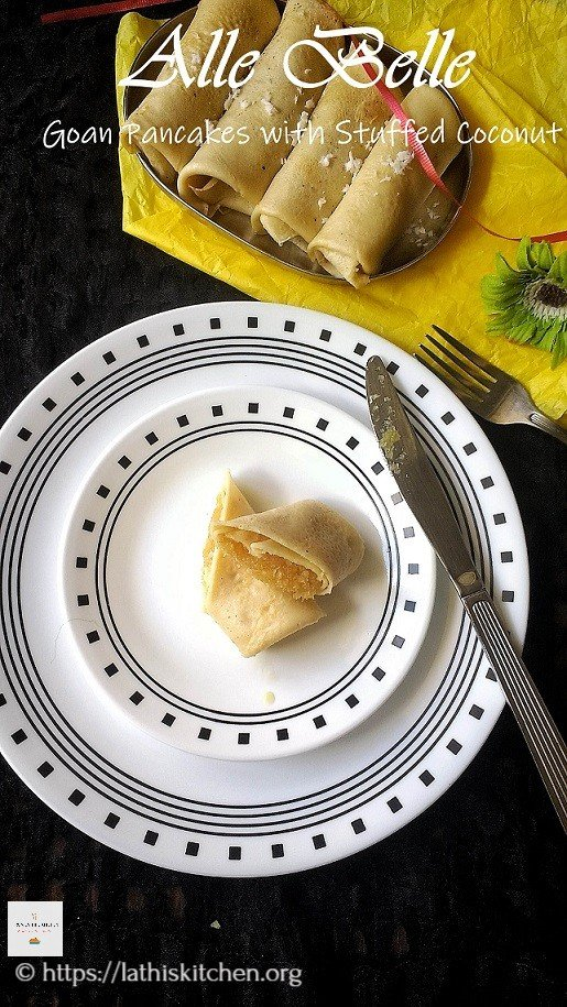 Alle Belle , Goa, Pancake,Coconut,Snack,Dessert,Tea time Snack,Coconut,Indian,Jaggery,Kids