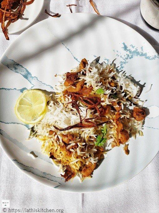 Fried Chicken Biriyani,Biriyani,chicken fry Biriyani,Indian,Lunch,Chicken,Non vegetarian,Dum Biriyani
