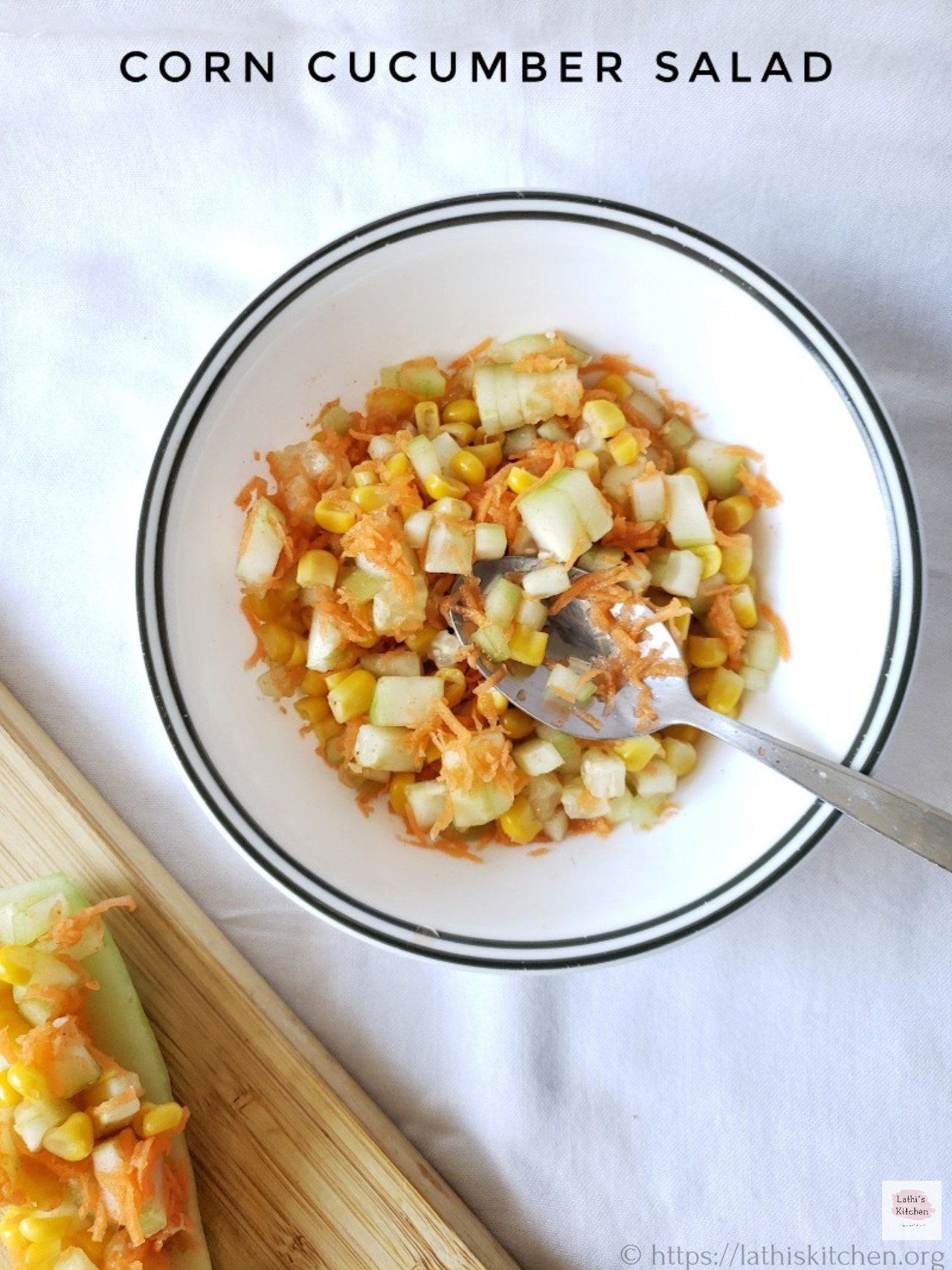 Corn cucumber salad,salad,healthy,breakfast,easy,vegetarian,