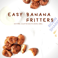 Banana Fritters/ Banana fritters using Whole Wheat