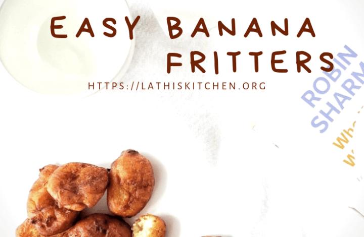 Banana fritters,fritters,whole wheat banana fritters,snack,easy snack,banana