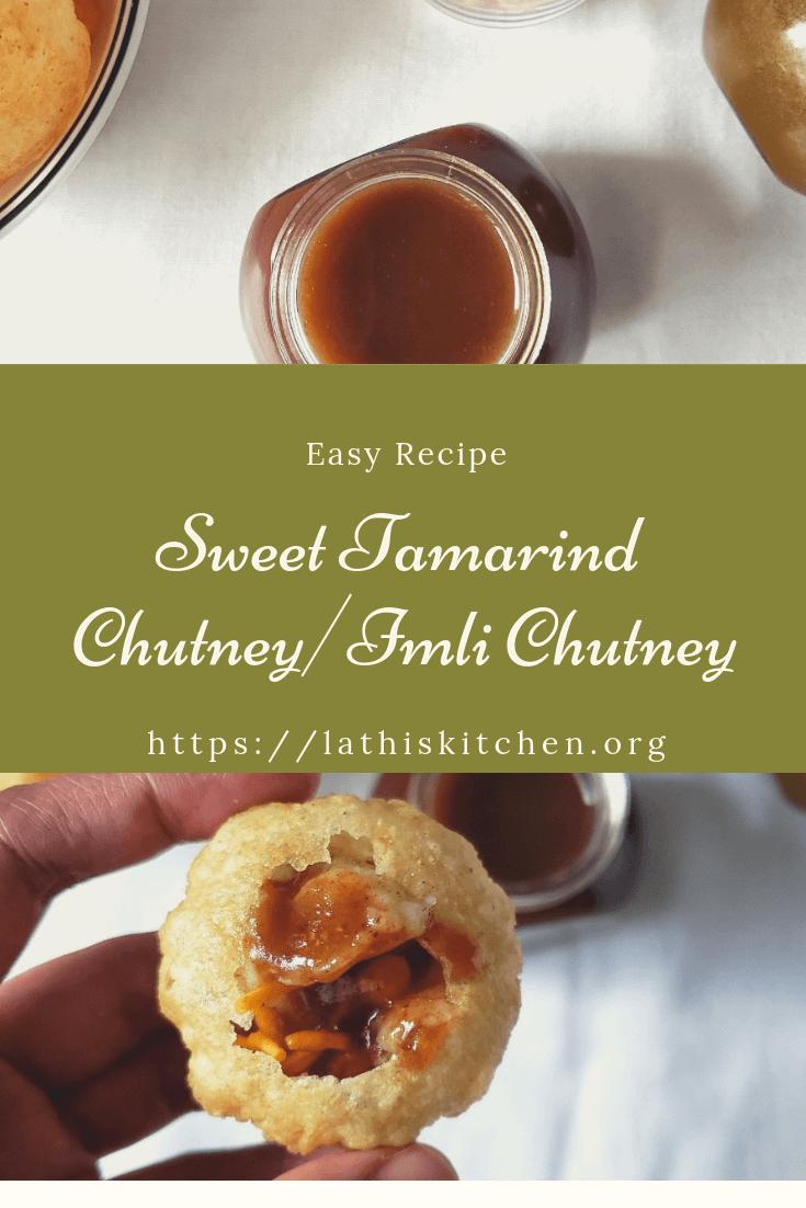 Imli ki Chutney, Dates tamarind chutney, Sweet chutney for chaat,Indian,holi recipe,