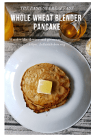 blender pancake,pancake,breakfast,whole wheat pancake,kids