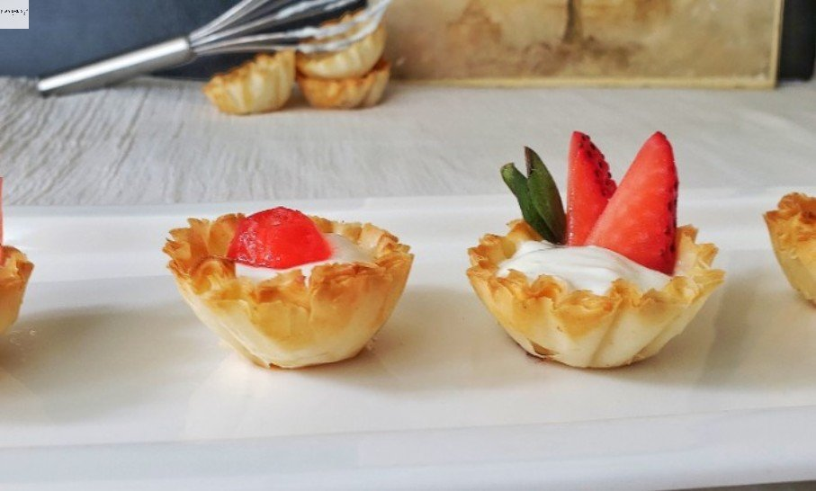 """""""A plate of Phyllo Dessert cups."""""""