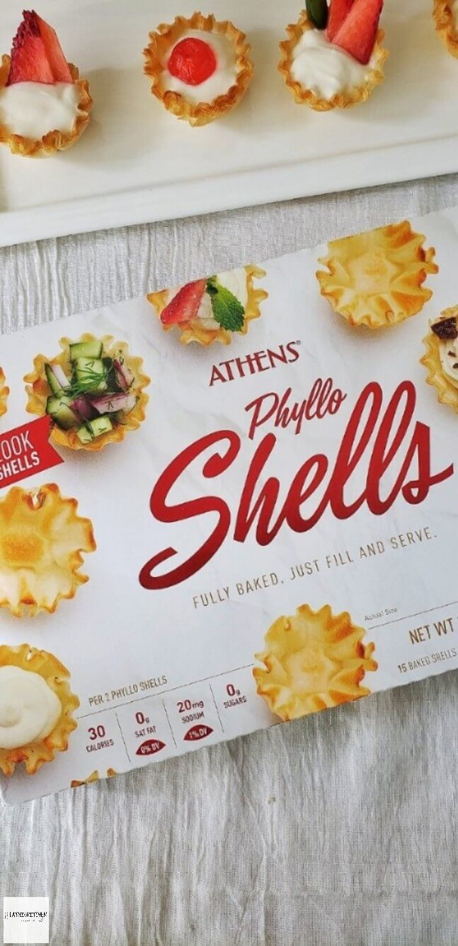 Pack of Athens Phyllo shells and Phyllo dessert cups.