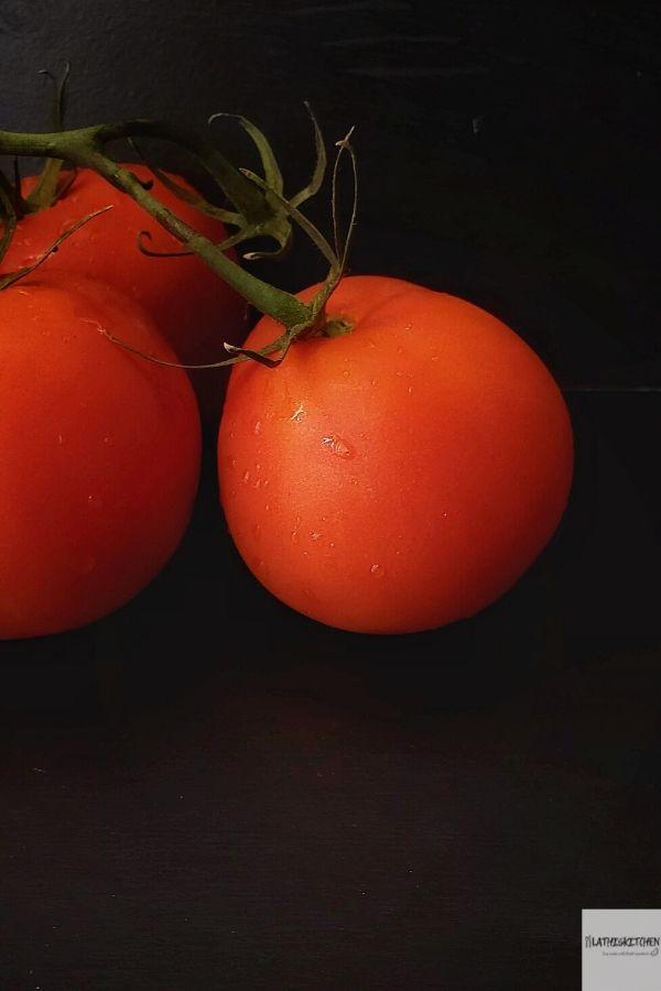 Tomato in the vine.
