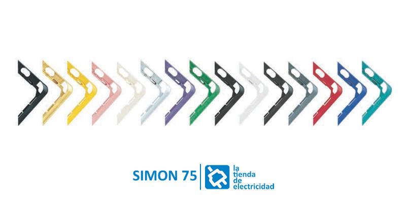 piezas intermedias simon 75 colores