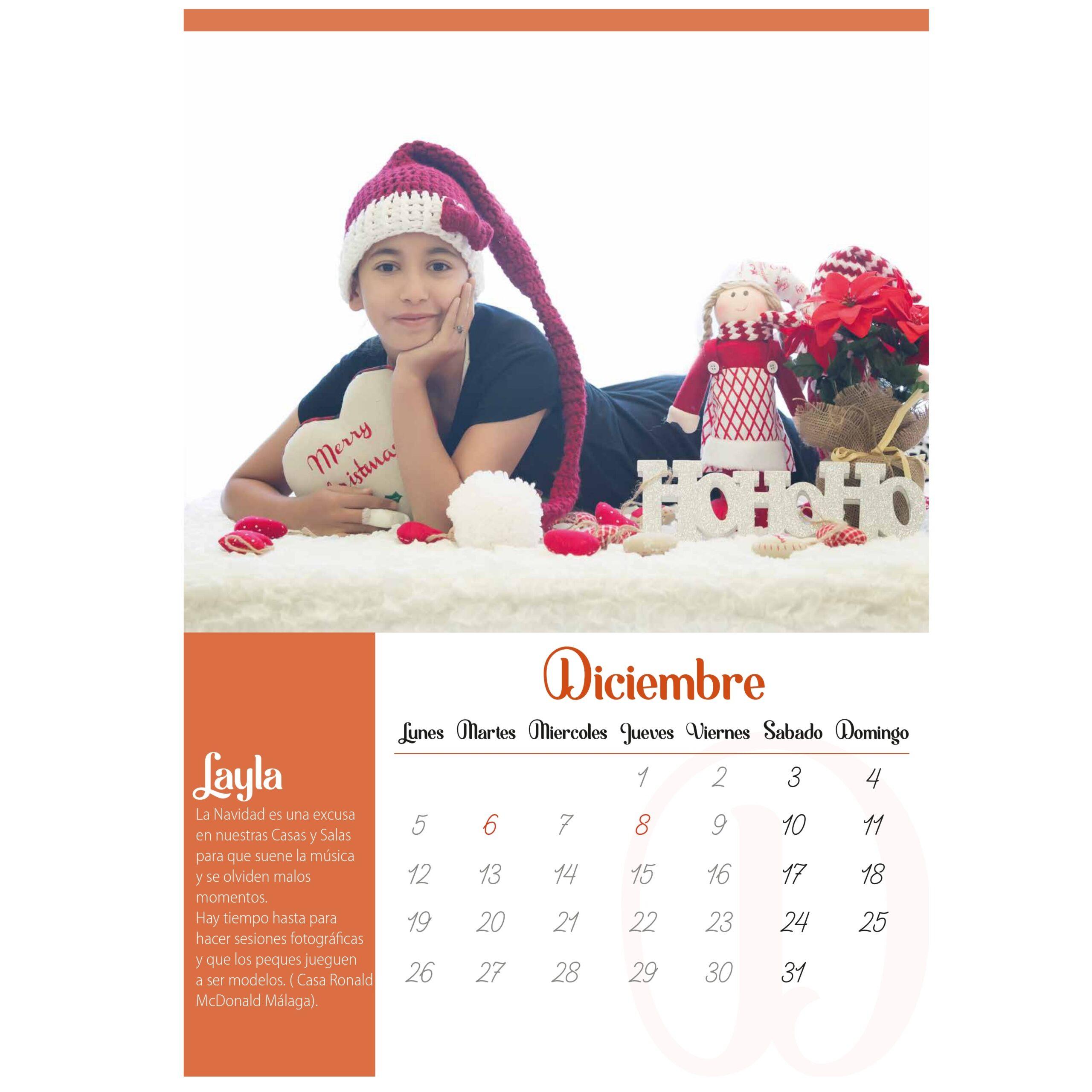 Calendario solidario 2022 de pared con preciosas fotografías de niños